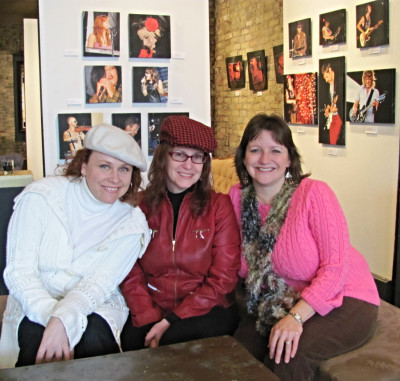 Local Love artists - Jennifer Schoenholtz, Peggy Howe and me